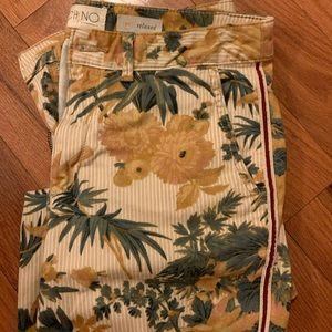 Anthropologie flower pants